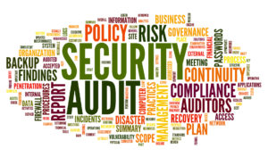 Security audit in word tag cloud